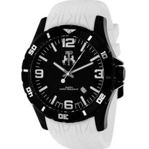 腕時計 ジバゴ メンズ Jivago Men's Ultimate Quartz 100m Stainless Steel/White Silicone Watch JV0114 aurora-and-oasis