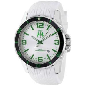 腕時計 ジバゴ メンズ Jivago Men's Ultimate Quartz 100m Stainless Steel/White Silicone Watch JV0116 aurora-and-oasis
