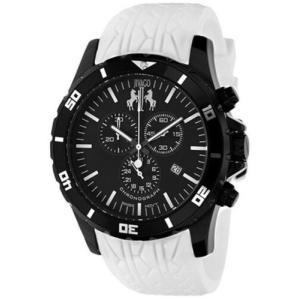 腕時計 ジバゴ メンズ Jivago Men's Ultimate 100m Chrono Stainless Steel/White Silicone Watch JV0124 aurora-and-oasis