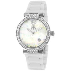 腕時計 ジバゴ レディース Jivago Women's Bijoux Swiss Quartz Stainless Steel/White Ceramic Watch JV2210 aurora-and-oasis
