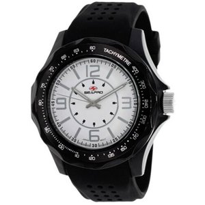 腕時計 シープロ メンズ Seapro Men's Dynamic Analog Quartz Black Plastic/Silicone Watch SP4113|aurora-and-oasis