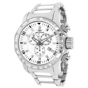 腕時計 シープロ メンズ Seapro Men's Coral 100m Chrono Stainless Steel/White Ceramic Watch SP6124|aurora-and-oasis