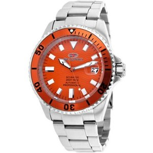 腕時計 シープロ メンズ Seapro Men's Scuba 200 Automatic 200m Orange Dial Stainless Steel Watch SP4315|aurora-and-oasis