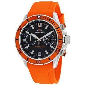 腕時計 シープロ メンズ Seapro Men's Thrash Chrono 100m Stainless Steel/Orange Silicone Watch SP0331|aurora-and-oasis