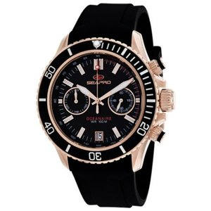 腕時計 シープロ メンズ Seapro Men's Thrash Chrono 100m Stainless Steel/Black Silicone Watch SP0333|aurora-and-oasis