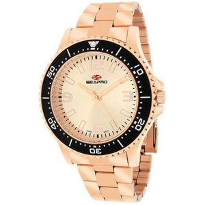 腕時計 シープロ メンズ Seapro Men's Tideway Analog Quartz Rose Gold Tone Stainless Steel Watch SP5334|aurora-and-oasis