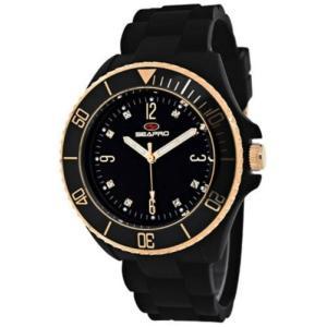 腕時計 シープロ レディース Seapro Women's Sea Bubble Swiss Quartz Black Plastic/Silicone Watch SP7412|aurora-and-oasis