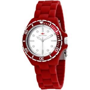 腕時計 シープロ レディース Seapro Women's Spring Swiss Quartz Red Plastic/Silicone Watch SP3214|aurora-and-oasis