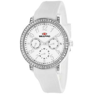 腕時計 シープロ レディース Seapro Women's Swell Quartz Chrono Stainless Steel/White Silicone Watch SP4410|aurora-and-oasis
