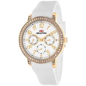 腕時計 シープロ レディース Seapro Women's Swell Quartz Chrono Stainless Steel/White Silicone Watch SP4412|aurora-and-oasis