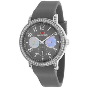 腕時計 シープロ レディース Seapro Women's Swell Quartz Chrono Stainless Steel/Grey Silicone Watch SP4413|aurora-and-oasis