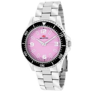 腕時計 シープロ レディース Seapro Women's Tideway Analog Quartz Pink Dial Stainless Steel Watch SP5412|aurora-and-oasis