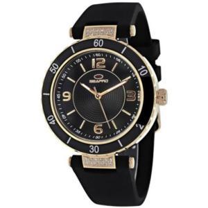 腕時計 シープロ レディース Seapro Women's Seductive Quartz Stainless Steel/Black Silicone Watch SP6414|aurora-and-oasis