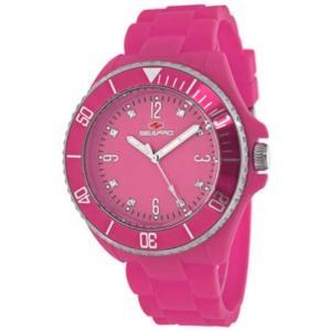 腕時計 シープロ レディース Seapro Women's Sea Bubble Swiss Quartz Pink Plastic/Silicone Watch SP7416|aurora-and-oasis