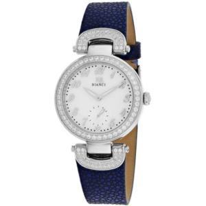 腕時計 ロベルトビアンキ レディース Roberto Bianci Women's Alessandra Stainless Steel/Blue Leather Watch RB0612|aurora-and-oasis