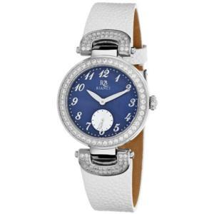 腕時計 ロベルトビアンキ レディース Roberto Bianci Women's Alessandra Stainless Steel/White Leather Watch RB0614|aurora-and-oasis