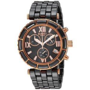 腕時計 ロベルトビアンキ レディース Roberto Bianci Women's Galeria Chrono Stainless Steel/Black Ceramic Watch RB26801|aurora-and-oasis