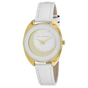 腕時計 テット ラピドス レディース Ted Lapidus Women's Classic Gold Tone Stainless Steel/Leather Watch A0629BAPF|aurora-and-oasis
