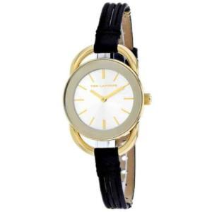 腕時計 テット ラピドス レディース Ted Lapidus Women's Classic Gold Tone Stainless Steel/Leather Watch A0681PBINN|aurora-and-oasis