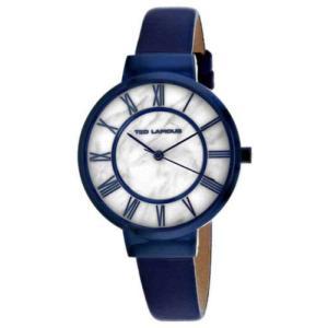 腕時計 テット ラピドス レディース Ted Lapidus Women's Classic Quartz Blue Stainless Steel/Leather Watch A0713KARB|aurora-and-oasis