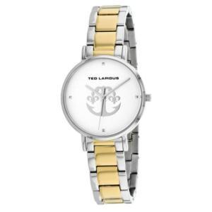 腕時計 テット ラピドス レディース Ted Lapidus Women's Classic Quartz Two Tone Stainless Steel Watch A0742BAPX|aurora-and-oasis