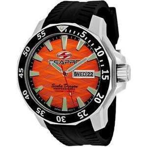 腕時計 シープロ メンズ Seapro Men's Scuba Dragon Diver 1000m Stainless Steel/Silicone Watch SP8314|aurora-and-oasis