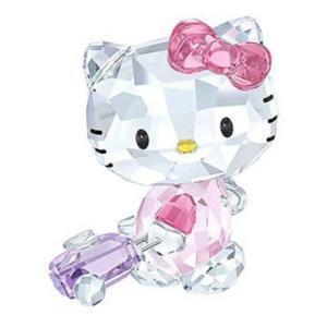 置き物 スワロフスキー ハローキティ Swarovski Hello Kitty Traveller Crystal Figurine 5279082|aurora-and-oasis
