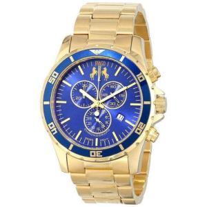 腕時計 ジバゴ メンズ Jivago Men's Ultimate Quartz Chrono 100m Gold Tone Stainless Steel Watch JV6125 aurora-and-oasis