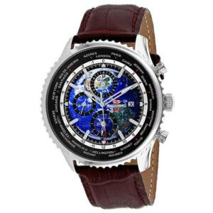 腕時計 シープロ メンズ Seapro Men's Meridian World Timer GMT  Stainless Steel Watch SP7131|aurora-and-oasis