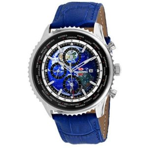 腕時計 シープロ メンズ Seapro Men's Meridian World Timer GMT  Stainless Steel Watch SP7132|aurora-and-oasis