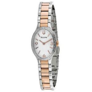 腕時計 ブローバ レディース Bulova Women's Diamond Stainless Steel Watch 98R190 aurora-and-oasis