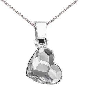ネックレス スワロフスキー クリスタル ハート 925 Sterling Silver Necklace Love Heart Crystals from Swarovski Curb Chain 18