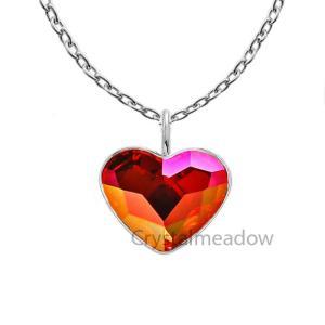 ネックレス スワロフスキー クリスタル ハート Sterling Silver Necklace Crystal Heart Pendant Genuine Crystals from Swarovski|aurora-and-oasis