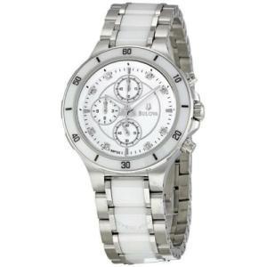 腕時計 ブローバ レディース Bulova Women's 98P125 Diamond Ceramic Bracelet Watch aurora-and-oasis
