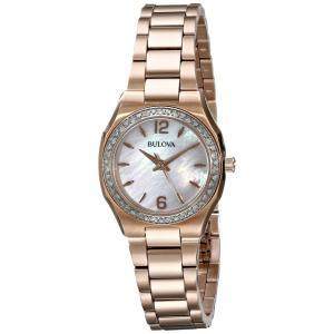 腕時計 ブローバ レディース Bulova Women's 98R205 46 Diamonds Rose Tone Bracelet watch aurora-and-oasis
