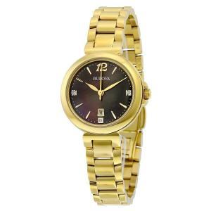 腕時計 ブローバ レディース Bulova Women's 97P107 Diamond Gallery Gold Tone Bracelet Watch aurora-and-oasis