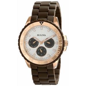 腕時計 ブローバ レディース Bulova Women's 98N103 Brown Rubber Bracelet Watch aurora-and-oasis
