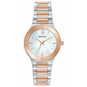 腕時計 ブローバ レディース Bulova 98R274 Futuro Women's Watch Silver/Rose Gold 32mm Stainless Steel aurora-and-oasis