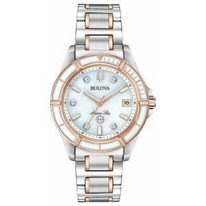 腕時計 ブローバ レディース Bulova 98P187 Marine Star Women's Watch Silver/Rose Gold 34mm Stainless Steel aurora-and-oasis