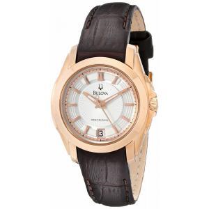 腕時計 ブローバ レディース Bulova Women's 97M104 Precisionist Longwood Rose-Tone Brown Leather Watch aurora-and-oasis