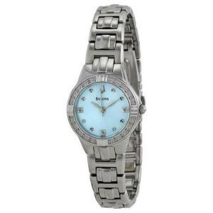 腕時計 ブローバ レディース Bulova Women's 96R172 Diamond Blue Dial Bracelet Watch aurora-and-oasis