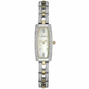 腕時計 ブローバ レディース Bulova Women's 98L214 Crystal Analog Display Quartz Two Tone Watch aurora-and-oasis