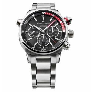 腕時計 モーリスラクロア メンズ Maurice Lacroix Men's PT6018-SS002-330 Pontos Silver-Tone Automatic Watch aurora-and-oasis