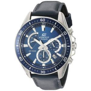 腕時計 カシオ メンズ Casio Men's 'Edifice' Chrono 100m Stainless Steel Leather Watch EFR-552L-2AVCF|aurora-and-oasis