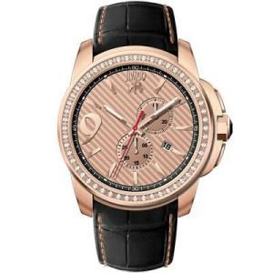 腕時計 ジバゴ メンズ Jivago Men's Gliese Chrono 100m Stainless Steel/Black Leather Watch JV1535 aurora-and-oasis