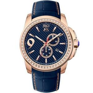 腕時計 ジバゴ メンズ Jivago Men's Gliese Chrono 100m Stainless Steel/Blue Leather Watch JV1533 aurora-and-oasis
