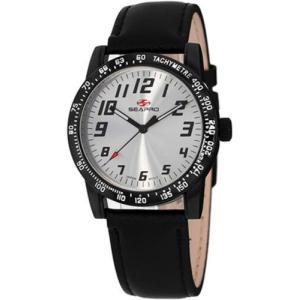 腕時計 シープロ レディース Seapro Women's Bold Quartz Silver Dial Black Alloy/Leather Watch SP5212|aurora-and-oasis