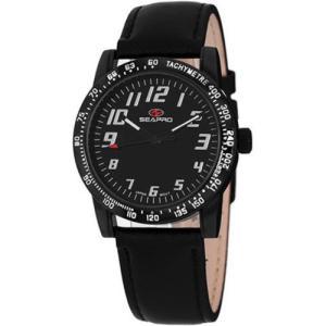 腕時計 シープロ レディース Seapro Women's Bold Quartz Black Dial Black Alloy/Leather Watch SP5214|aurora-and-oasis