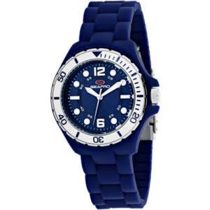 腕時計 シープロ レディース Seapro Women's Spring Swiss Quartz Blue Plastic/Silicone Watch SP3217|aurora-and-oasis