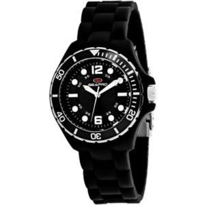腕時計 シープロ レディース Seapro Women's Spring Swiss Quartz Black Plastic/Silicone Watch SP3219|aurora-and-oasis